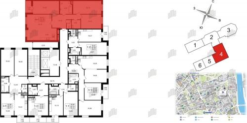 3-комнатная квартира на продажу (121,7 м<sup>2</sup>)