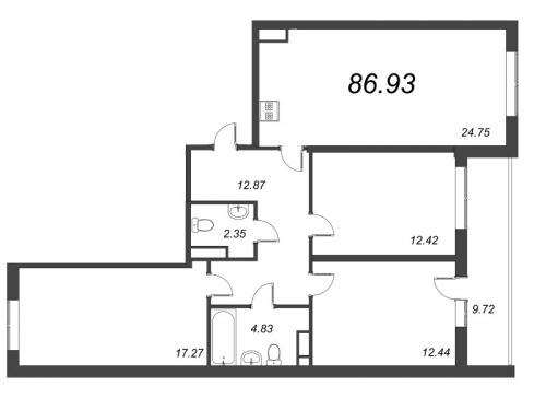 4-комнатная квартира на продажу (86,9 м<sup>2</sup>)