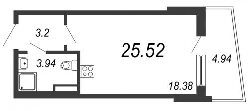 Студия на продажу (25,5 м<sup>2</sup>)