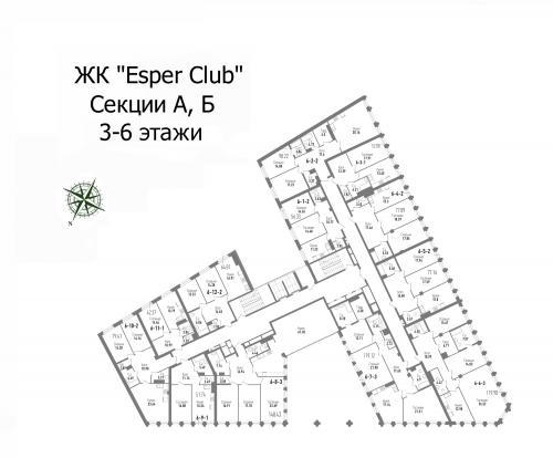 1-комнатная квартира на продажу (52,1 м<sup>2</sup>)