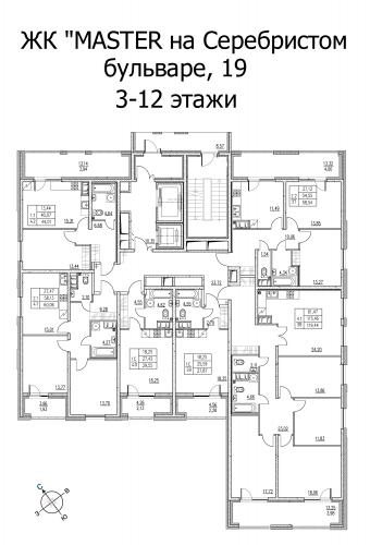 4-комнатная квартира на продажу (121,4 м<sup>2</sup>)