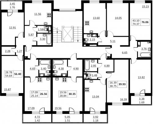 1-комнатная квартира на продажу (30,4 м<sup>2</sup>)