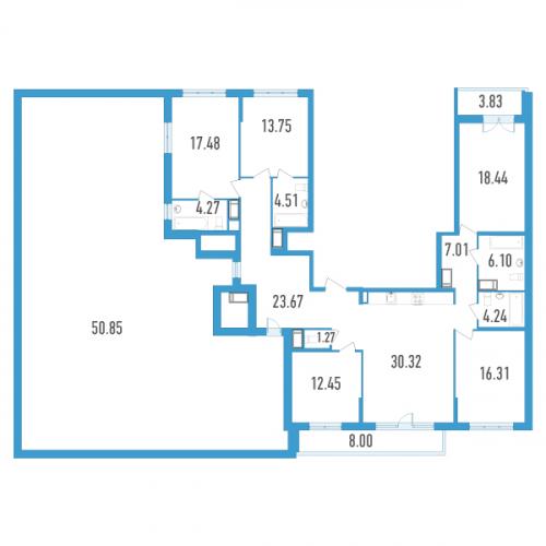 5-комнатная квартира на продажу (214,0 м<sup>2</sup>)