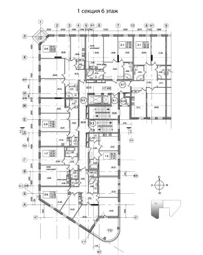 3-комнатная квартира на продажу (107,8 м<sup>2</sup>)