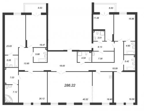 7-комнатная квартира на продажу (286,2 м<sup>2</sup>)