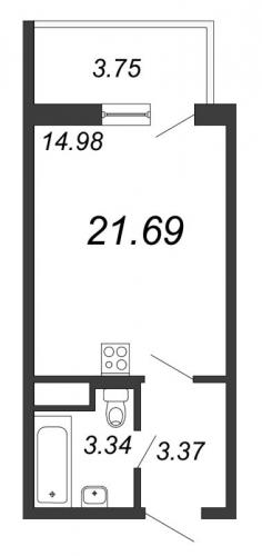 Студия на продажу (21,7 м<sup>2</sup>)