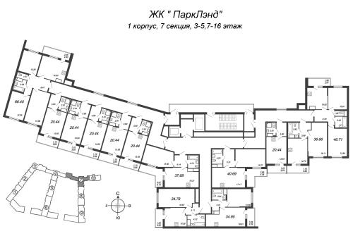 4-комнатная квартира на продажу (66,4 м<sup>2</sup>)