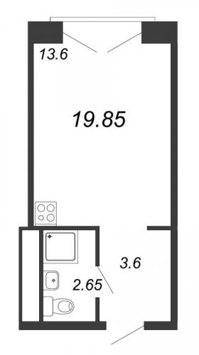 Студия на продажу (19,9 м<sup>2</sup>)