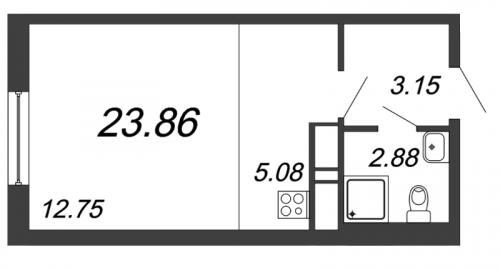 Студия на продажу (23,9 м<sup>2</sup>)