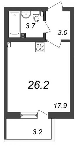 Студия на продажу (26,2 м<sup>2</sup>)