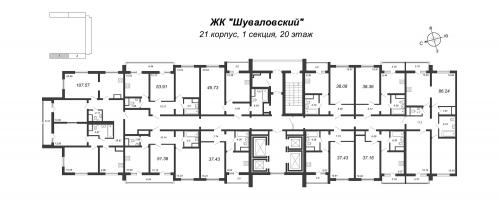 4-комнатная квартира на продажу (107,6 м<sup>2</sup>)