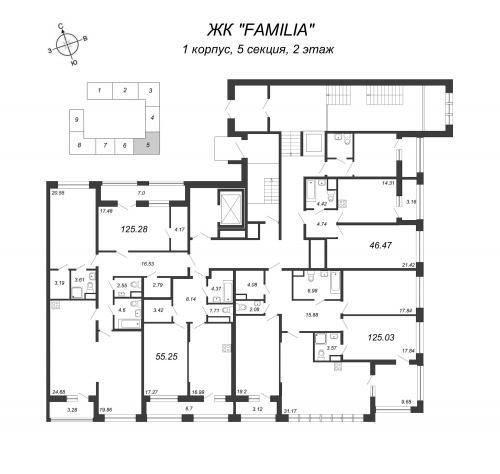 4-комнатная квартира на продажу (125,2 м<sup>2</sup>)