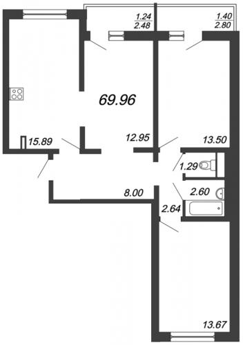 4-комнатная квартира на продажу (72,6 м<sup>2</sup>)