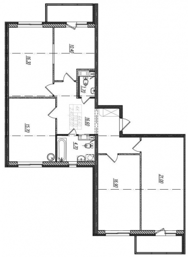 4-комнатная квартира на продажу (105,7 м<sup>2</sup>)