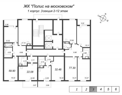 1-комнатная квартира на продажу (32,5 м<sup>2</sup>)