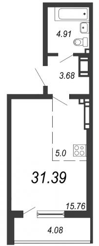 Студия на продажу (31,4 м<sup>2</sup>)