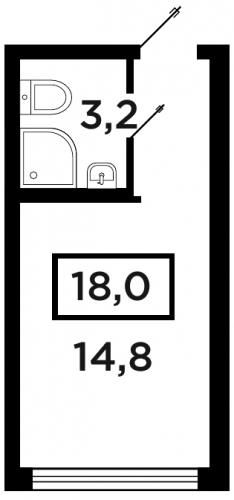Студия на продажу (18,0 м<sup>2</sup>)