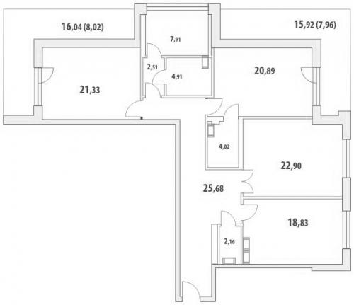 3-комнатная квартира на продажу (149,7 м<sup>2</sup>)