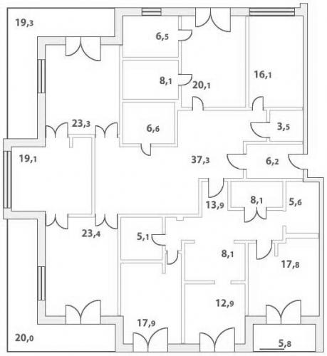 7-комнатная квартира на продажу (274,7 м<sup>2</sup>)