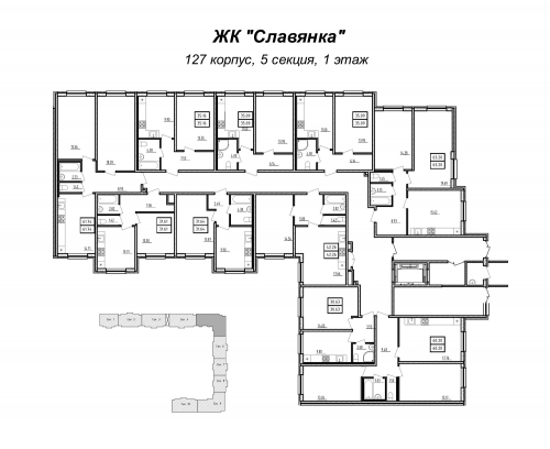 1-комнатная квартира на продажу (31,6 м<sup>2</sup>)