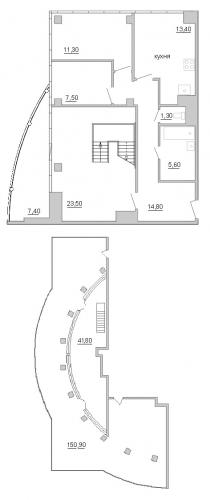 3-комнатная квартира на продажу (165,2 м<sup>2</sup>)