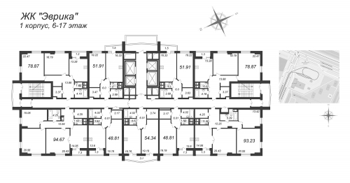 2-комнатная квартира на продажу (78,9 м<sup>2</sup>)