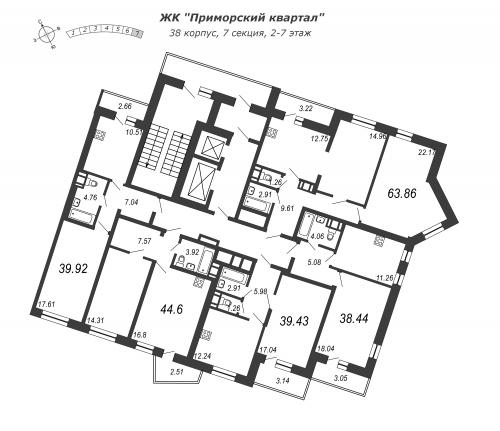 1-комнатная квартира на продажу (39,9 м<sup>2</sup>)