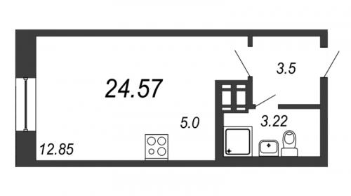 Студия на продажу (24,6 м<sup>2</sup>)