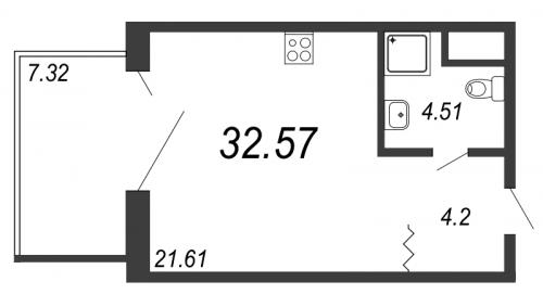 Студия на продажу (32,6 м<sup>2</sup>)