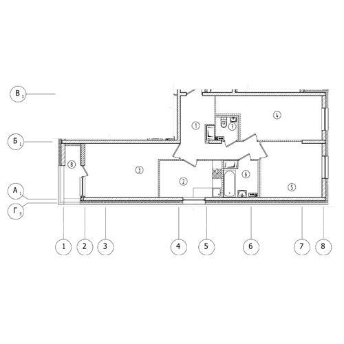 3-комнатная квартира на продажу (74,9 м<sup>2</sup>)