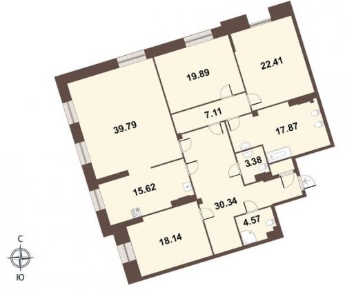 4-комнатная квартира на продажу (181,0 м<sup>2</sup>)