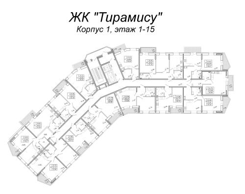 2-комнатная квартира на продажу (40,4 м<sup>2</sup>)