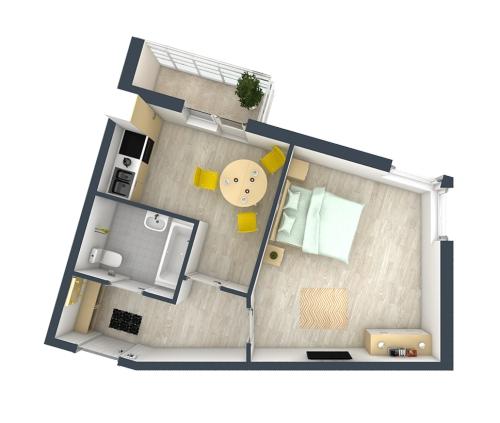 1-комнатная квартира на продажу (38,0 м<sup>2</sup>)