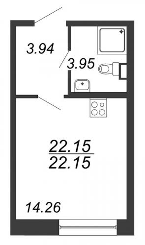Студия на продажу (22,2 м<sup>2</sup>)