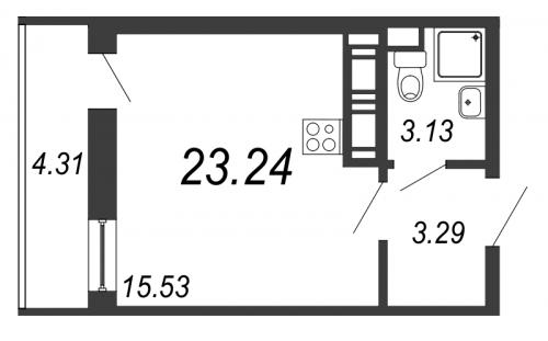 Студия на продажу (23,2 м<sup>2</sup>)