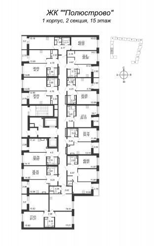 2-комнатная квартира на продажу (32,1 м<sup>2</sup>)