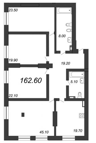 4-комнатная квартира на продажу (162,6 м<sup>2</sup>)