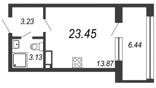Студия на продажу (23,5 м<sup>2</sup>)