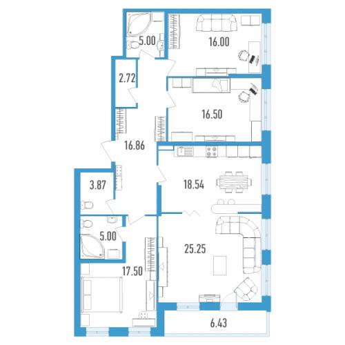 4-комнатная квартира на продажу (130,0 м<sup>2</sup>)