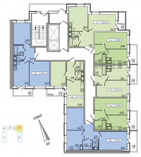 1-комнатная квартира на продажу (31,8 м<sup>2</sup>)