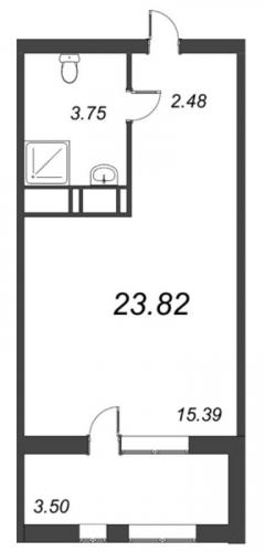 1-комнатная квартира на продажу (23,8 м<sup>2</sup>)