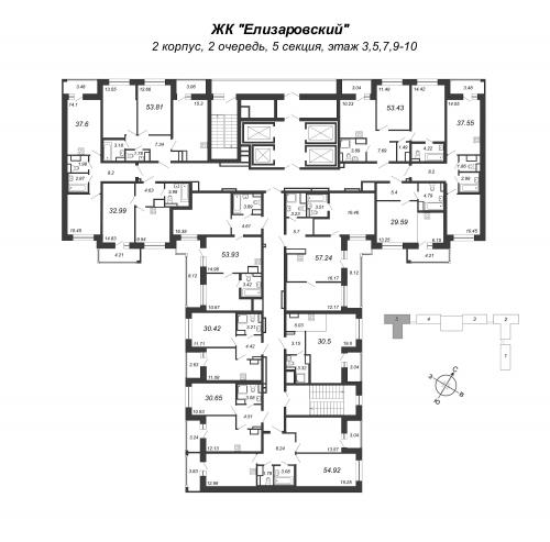 2-комнатная квартира на продажу (30,7 м<sup>2</sup>)