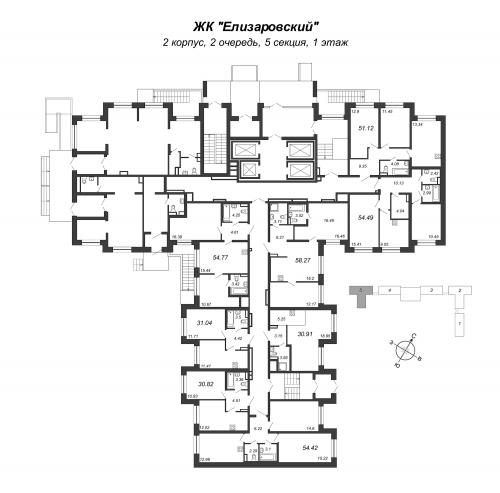 3-комнатная квартира на продажу (51,1 м<sup>2</sup>)
