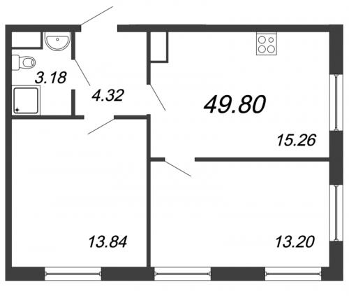 3-комнатная квартира на продажу (49,8 м<sup>2</sup>)