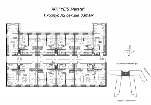 2-комнатная квартира на продажу (62,9 м<sup>2</sup>)