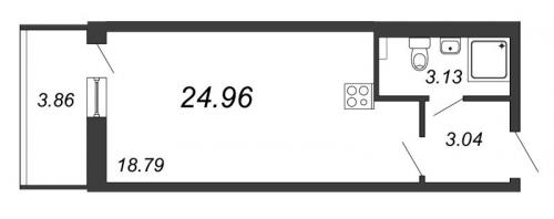 Студия на продажу (25,0 м<sup>2</sup>)
