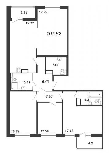 5-комнатная квартира на продажу (107,6 м<sup>2</sup>)