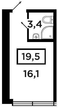 Студия на продажу (19,5 м<sup>2</sup>)