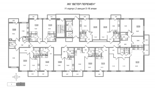 1-комнатная квартира на продажу (34,9 м<sup>2</sup>)