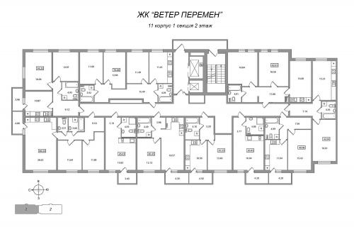 2-комнатная квартира на продажу (40,5 м<sup>2</sup>)